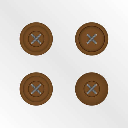 buttons isolated