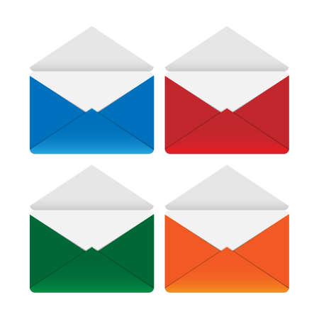 Colored envelopes 2 Illustration
