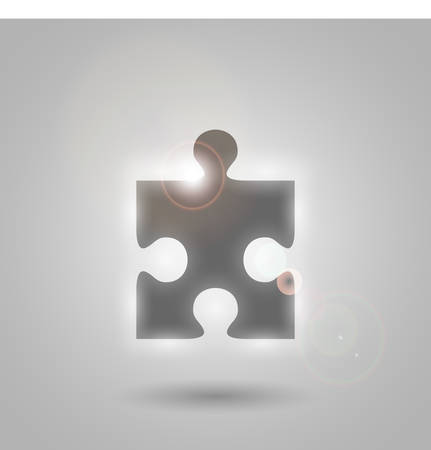 glowing piece the puzzle Illustration