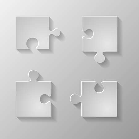 Gray piece the puzzle
