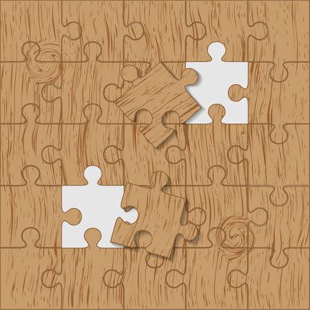 Puzzle fatta pezzo di legno