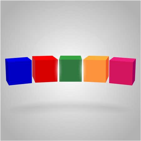 Cubi volumetrici in aria Vettoriali