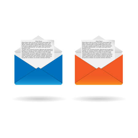 Colored envelopes 2 with letter Illustration