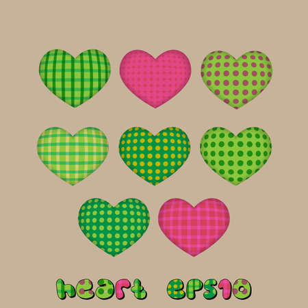 Funny Hearts from a fabric  Seamless pattern Illustration