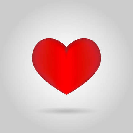 Isolated heart on white background Illustration