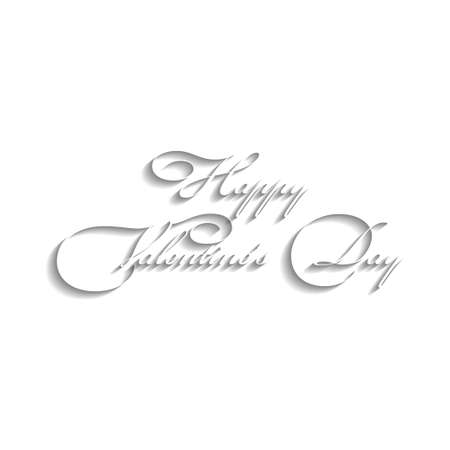 Text design of happy valentine day  White
