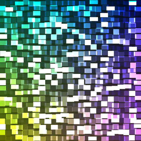 Square mosaic background Illustration
