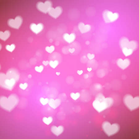 Abstract Hearts for Valentines Day on pink background Illustration