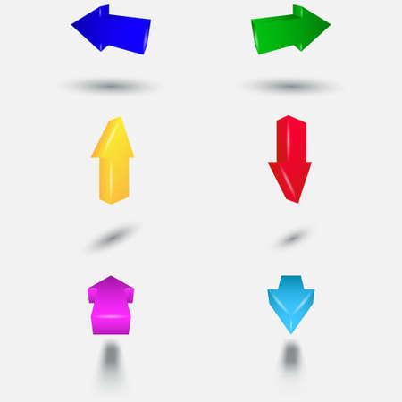 Colored 3D arrows