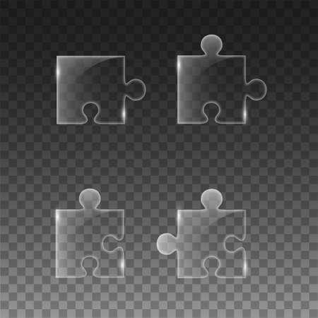 Transparent piece the puzzle Illustration