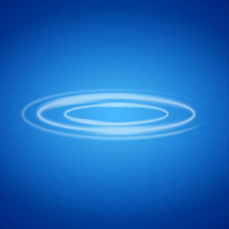 Smoke circle on blue background