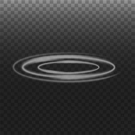 Smoke circle on transparent background