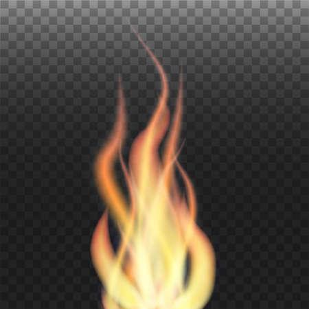 Flame on transparent background Illustration