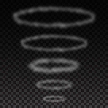Smoke circles on transparent background