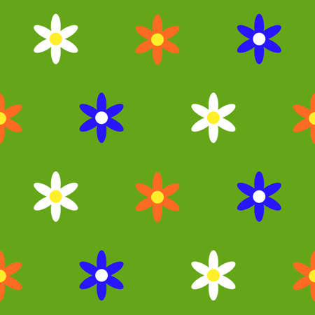 Colorful flowers pattern  イラスト・ベクター素材