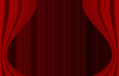 red curtain wallpaper Stock Photo - 14605959