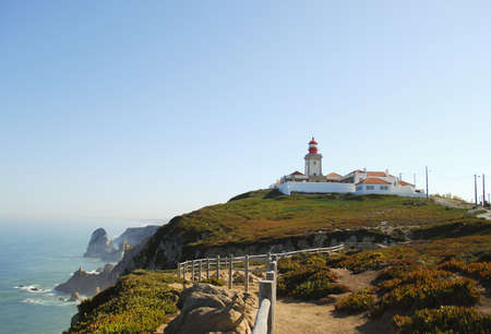 Lighthouse in Cabo da Roca (Portugal) photo