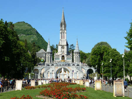 LOURDES – MAY 8: The Basilica of our Lady of the Rosary on May 8, 2011 in Lourdes (France). The Basilica of our Lady of the Rosary is a Roman Catholic church in the Sanctuary of Our Lady of Lourdes