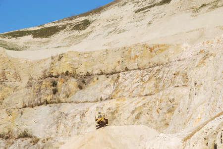 sand quarry: Machine in a stone quarry