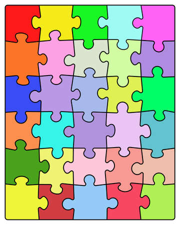 Colorful puzzle photo