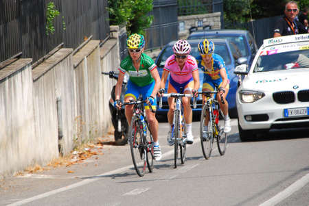 marianne: BERGAMO, ITALY – JULY 07:  Cyclists in the 23° International Women. 9° Stage from Sarnico to Bergamo, 107 kilometres. The winner Vos Marianne (Stichting Rabobank) on race