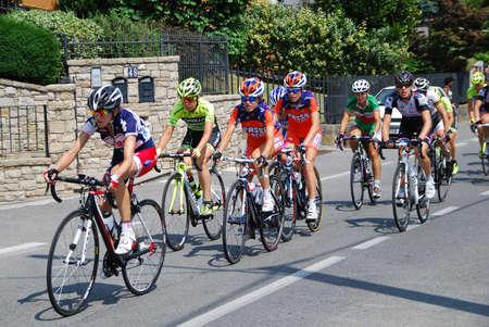 kilometres: 9� Stage from Sarnico to Bergamo, 107 kilometres. Cyclists on race