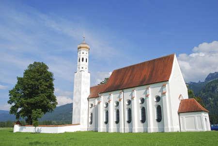 schwangau: Saint Coloman Church in Schwangau, Germany