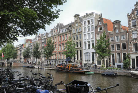 nice accommodations: Typical houses in Amsterdam  Netherlands  Editorial