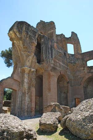 hadrian: The Hadrian s Villa is a large Roman archaeological complex at Tivoli  Italy  Stock Photo