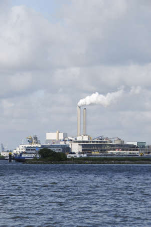 naphtha: Steel factory across a canal in Amsterdam, Holland