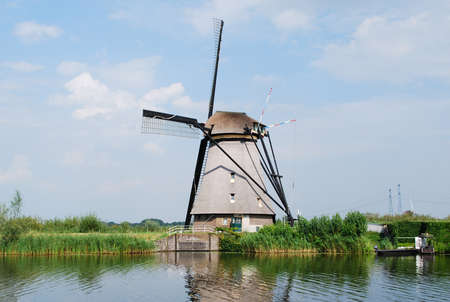 Windmill in Kinderdijk - Holland photo