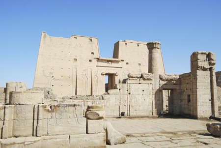 enthroned: The temple of Horus at Edfu, Egypt - Africa
