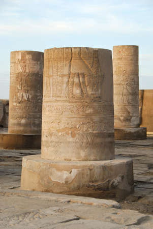 enthroned: Temple of Kom Ombo in Egypt - Africa