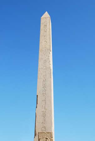 obelisk stone: Obelisk in Karnak temple in Luxor  Stock Photo
