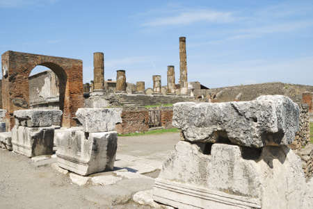 The Temple of Jupiter in Pompeii    photo