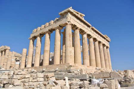 Parthenon in Acropolis, Athens - Greece photo