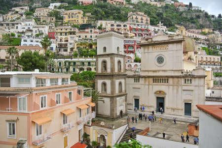 positano: Dome of Positano  Costiera Amalfitana - Italy
