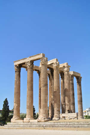 The Temple of Olympian Zeus, Athens, Greece photo