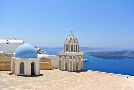 firostefani: Church in Firostefani  Santorini island - Greece