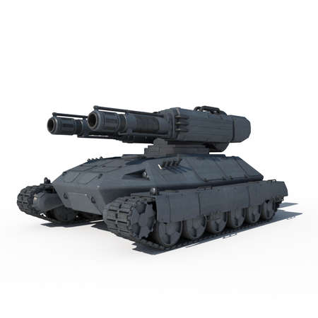 sci: sci fi 3d tank Stock Photo