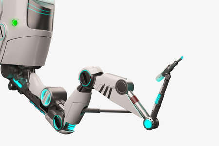 Sci fi 3d robotic arm