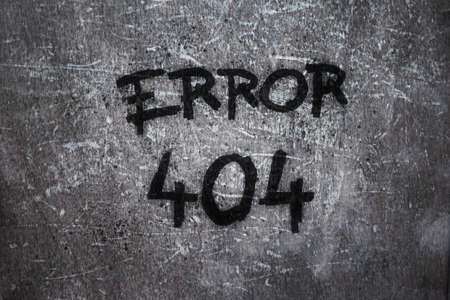 error 404 on grunge background photo