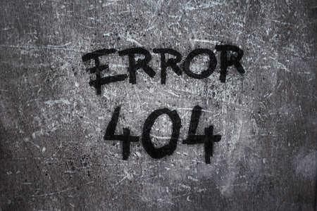 error 404 on grunge background photo