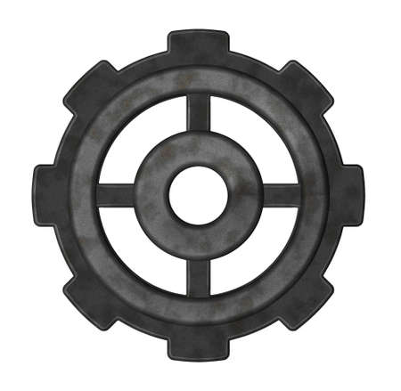 gear wheel on white background - 3d illustration Stock Illustration - 9959129