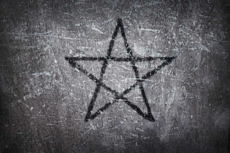 pentacle: pentacolo su sfondo grunge - illustrazione 3D Archivio Fotografico