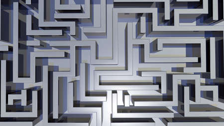 3d illustration of a labyrinth illustration