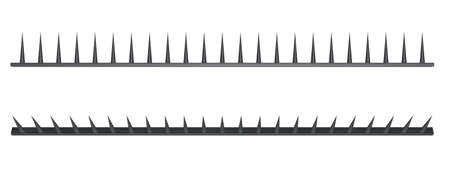 prickles: metal strip with spikes - 3d illustration