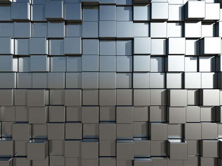 abstract 3d blocks: 3d cubes background - illustration