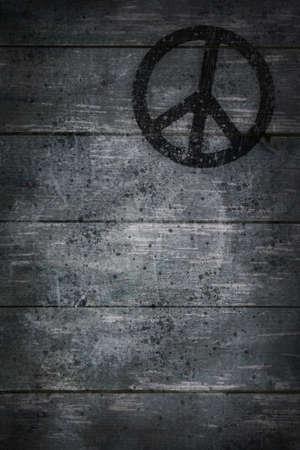 pacific symbol on wooden background - 3d illustration illustration