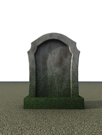 blank gravestone  - 3d illustration illustration